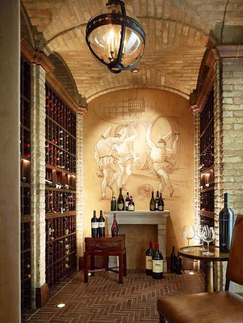 wine cellar made with brick