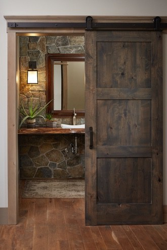 Hebron Brick bathroom inspiration stone wall