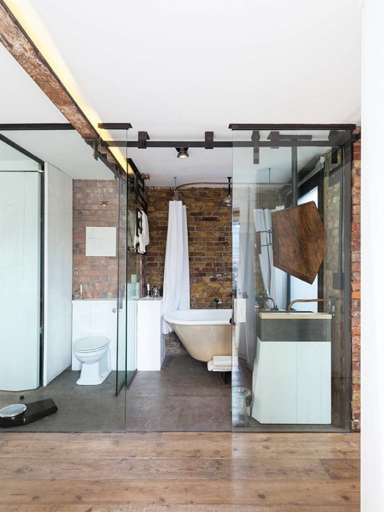 Hebron Brick bathroom inspiration brick bathroom